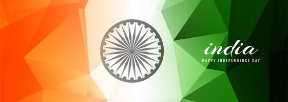 Geometric Indian Independence Day Flag