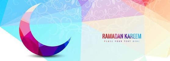 Plantilla geométrica colorida de Ramadán Kareem