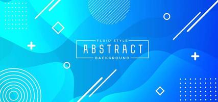 Blue Abstract Fluid Banner
