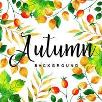 Modello di foglie d'autunno multicolor