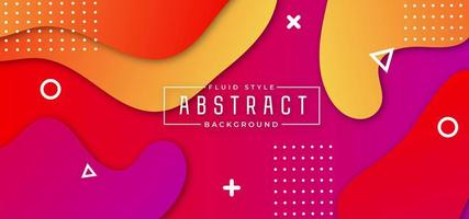Colorful Geometric Wavy Background