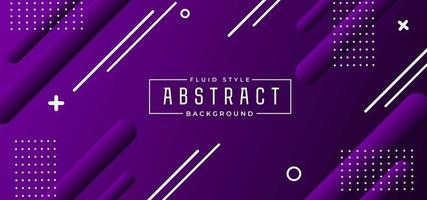 Purple Geometric Shapes Banner