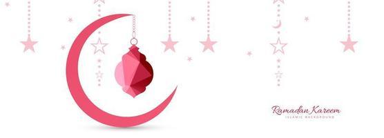 Ramadan kareem pink geometric background