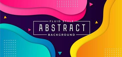 Neon Fluid Background with Geometric Shapes