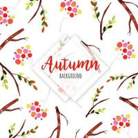 Autumn Branches Background Pattern  vector