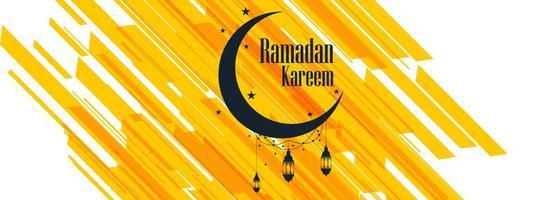 Design de modelo colorido de banner Ramadan kareem