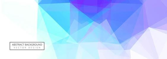 Abstract colorful polygon banner template