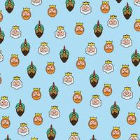 Wise men christmas pattern on blue background.