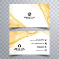 Abstract business card set with yellow wave