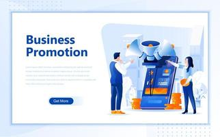 Business promotion flat  web landing page template