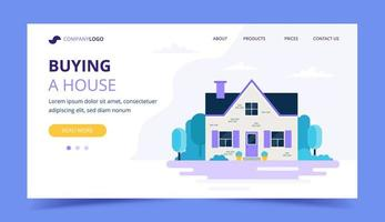 Buying a house landing page template