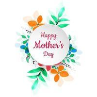Happy Mother's Day Colorful Flower Background
