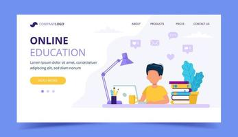 Online education for children landing page