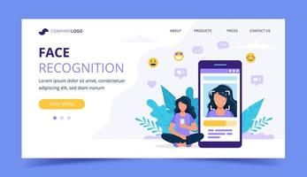 Face recognition technology landing page