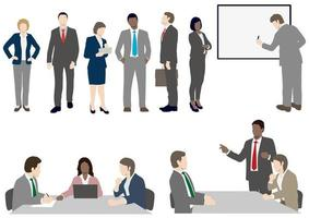 Set of business people in flat style  vector