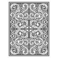 Ornate botanical hand drawn effect pattern
