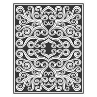 Clean line ornate vine drawing pattern
