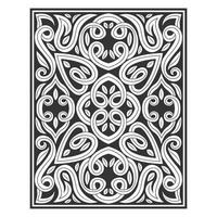 Ornate floral line drawing pattern
