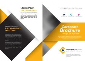 Yellow Brochure Design Template