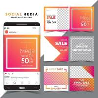 Set of Social Media Post Templates