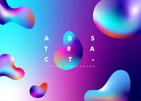 Abstract Background with Gradient Liquid Effect