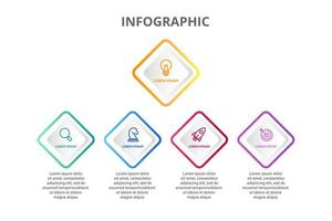 Infographic design with 5 icons options or steps