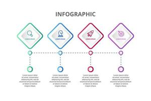 Infographic design with 4 icons options or steps
