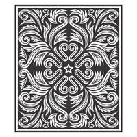 Abstract symmetrisch botanisch patroon