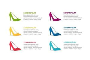 shoe Infographic design with options or list