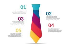 tie Infographic design with options or list