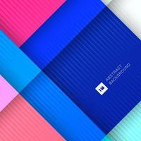 colorful geometric shape overlapping 3D dimension background
