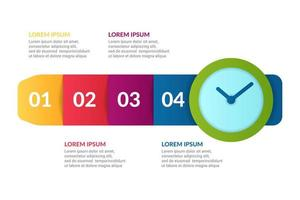 watch Infographic design with  lists info vector