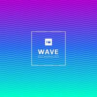 wavy wave lines pattern on vibrant color background