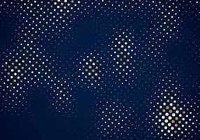glitter gold halftone pattern on dark blue background