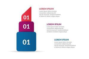 rossetto, design infografico con opzioni o elenco