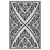Ornate carved effect lines pattern vector