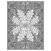 Floral vertical wood carved effect pattern  vector