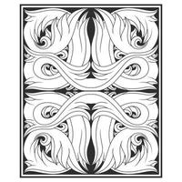 Twisting leaves black and white pattern