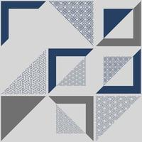 Abstract geometric patterned  blue background