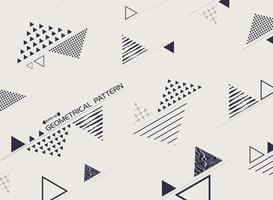 Patrón de forma negra abstracta geométrica retro de forma libre