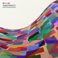 Modèle de mosaïque fluide abstrait carrés superposés colorés