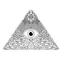 Third mystical eye spiritual illuminati emblem  vector