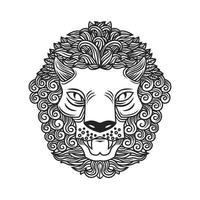 Verzierte Linie Löwenkopfmuster