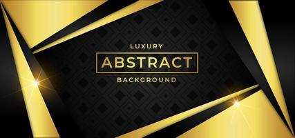 Luxury background with golden triangle shapes