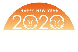 2020 - the Year of the Rat - New Years card template vector