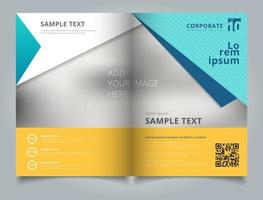 Template business brochure layout design