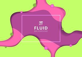 Abstract fluid dynamic style banner