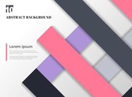 Geometric colorful background with square frames vector