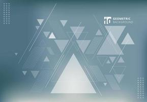 Abstract blurred background with geometric triangles composition vector