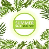 Summer Sale banner with Leaves frame